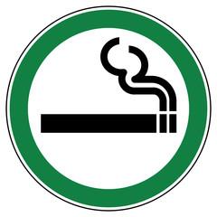 srg1 SignRoundGreen - German - ez1 ErlaubnisZeichen: Rauchen erlaubt - english - allowed sign: smoking allowed - g4710