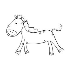 horse animal. side view. drawn design vector illustration