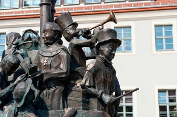 A monument in Pirna in Saxon Switzerland