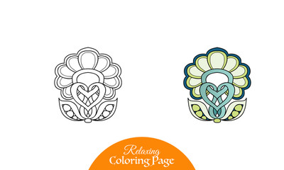 Ethnic Amulet. Coloring book for adult and older children. Color