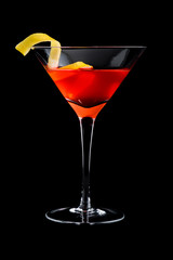 cosmopolitan cosmo cocktails on black background