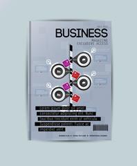 Magazine cover, vector