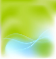 Abstract green ecological background vector design