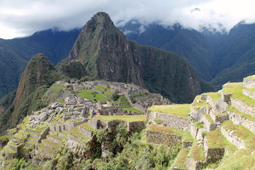 Machu Picchu ruins on Mountain