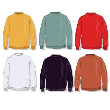 warm clothes collection. vector.