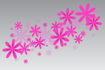Background with paper flowers. Vector illustration EPS 10.