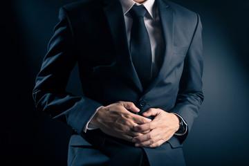 Businessman Has Stomach Ache