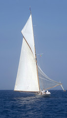 Sailboat in old style