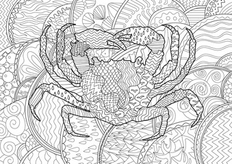 Sea crab with high details.