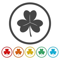 Clover icon. Clover flat symbol.