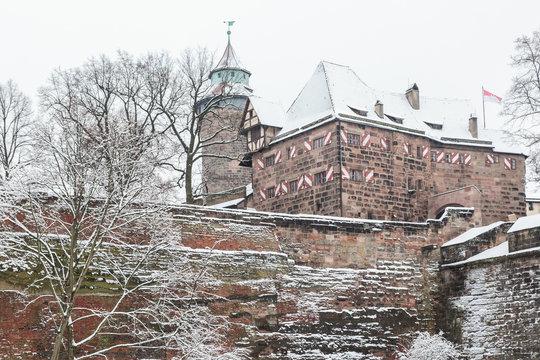 Kaiserburg Nuremberg during the winter