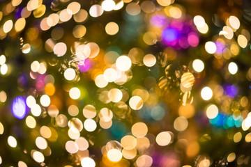 Bokeh Weihnachtsbaum Beleuchtung