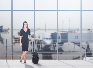 Travelling businesswoman