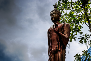 Buddha model on Cloud and sky background