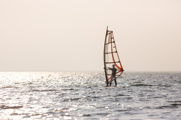 Windsurfer at the sea