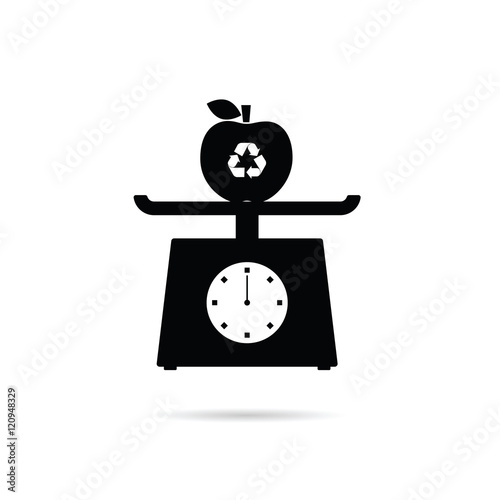 Scales for food with recycle apple illustration fichier for Sur la table food scale