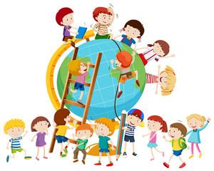 Lots of children around the globe