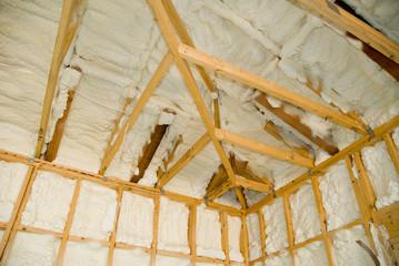 Obraz Newly sprayed insulation - fototapety do salonu