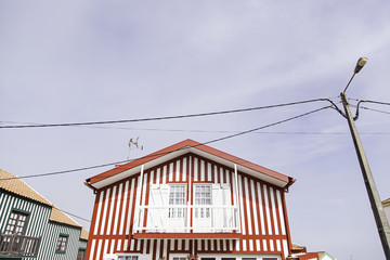 Detail of a typical facade of Aveiro