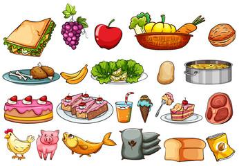 Food and ingredients set
