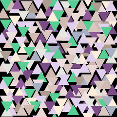 Seamless triangle pattern. Geometric vector pattern.Abstract geo