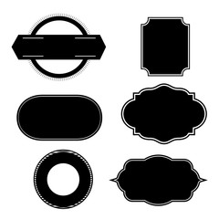 Set of black vintage frame,vector illustration