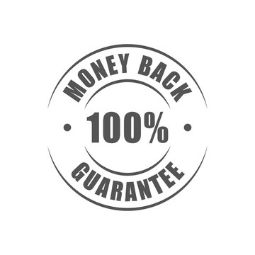 Money back 100% guarantee round logo