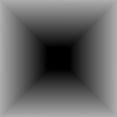 abstract background in the form of a square tunnel