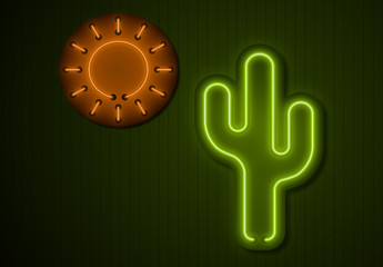 Neon Title Graphics