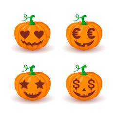 Various pumpkin faces.