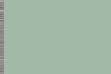 Green background with greyscale horizontal lines on left hand border