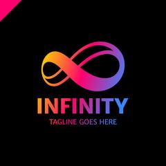 Infinite limitless symbol icon or logo design template. Corporate branding identity