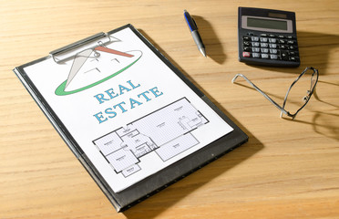Real estate concept on a desk