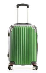 Travel suitcase isolated on white background