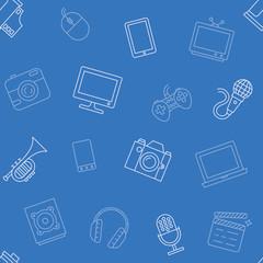 Multimedia object pattern seamless
