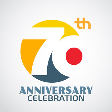 Template Logo 70th anniversary with a circle and the number 70 i