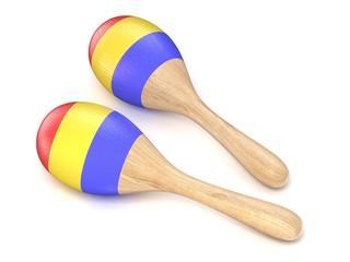 Wooden toy maracas. 3D
