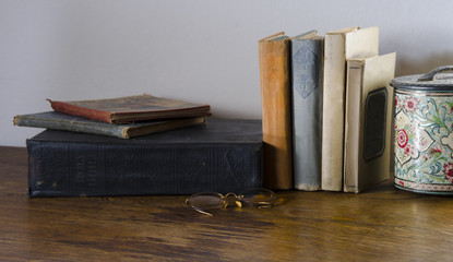 Antique Books on Desk