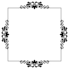 Silhouette frame with free space for your text. Vector clip art.