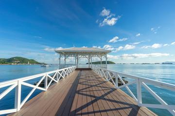Historical white sea bridge at Sichang island