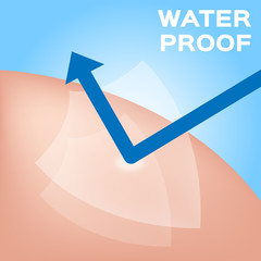 Water proof logo , icon and vector . blue Water proof version