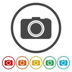 Photo camera sign icon. Digital photo camera symbol.