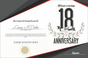Anniversary golden retro vintage labels collection