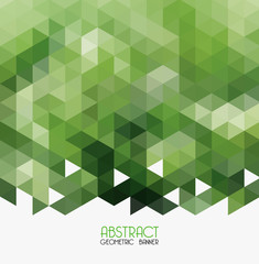 Vector Abstract green geometric background.