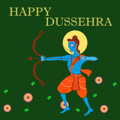 India festival Happy Dussehra background