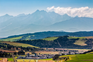 Rural area at the foot of Tatra mountains