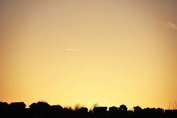 Вечернее небо  в Банья-Луке , Босния и Герцеговина.