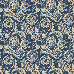 floral ethnic seamless pattern