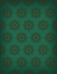 Seamless floral orenamental vector background.