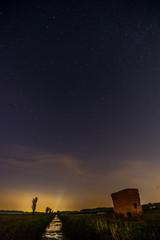 Nachthimmel auf den Feldern